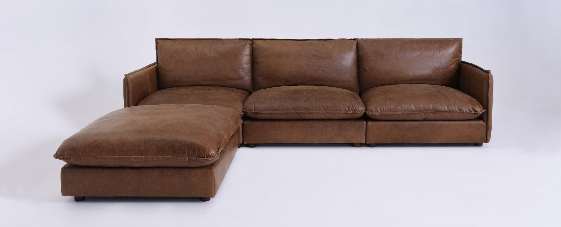 Popular Neva Modular Leather Chaise Sectional In Leather Chaise Sectionals (View 11 of 15)