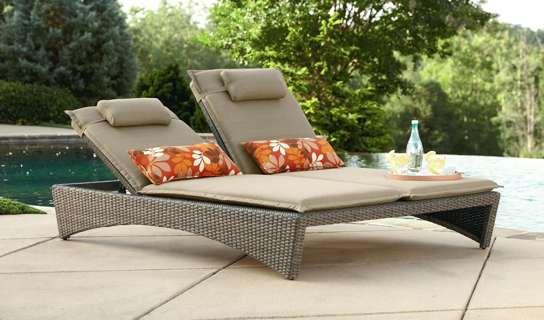 Popular Outdoor Chaise Lounge Chairs Under 100 Awesome Chair For Two For Outdoor Chaise Lounge Chairs Under $ (View 12 of 15)