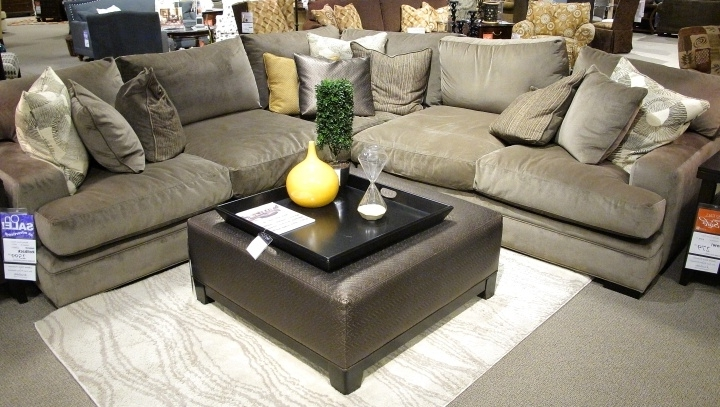 Popular Oversized Comfortable Couches Deep Seated Sofas Gray Sofas Soft Within Deep Cushion Sofas (View 4 of 10)