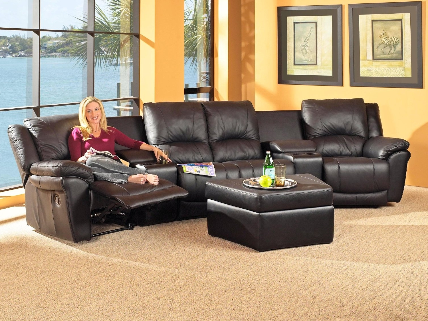 Popular Reclining Sectional With Chaise Sectional Couches Big Lots Intended For Reclining Sectionals With Chaise (View 11 of 15)