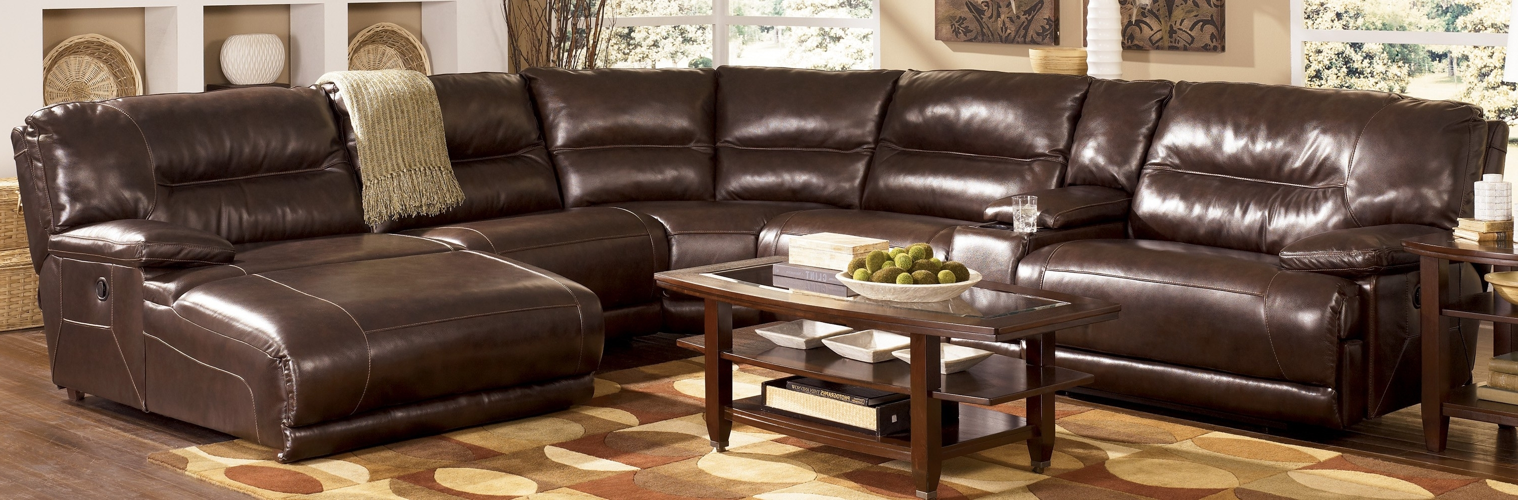 Popular Reclining Sectionals With Chaise Intended For Leather Sectional Sleeper Sofa Sectional Sofas With Recliners And (View 12 of 15)