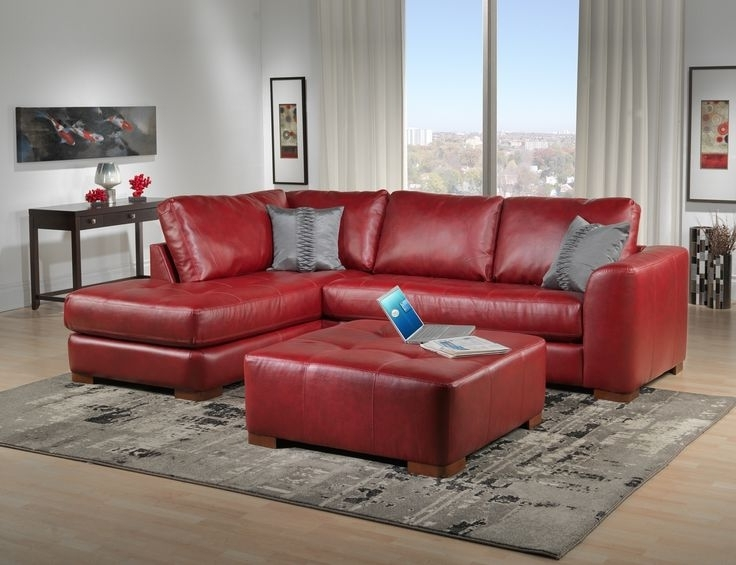 Popular Red Leather Sectionals With Chaise With Regard To Enchanting Red Leather Sofas 1000 Ideas About Red Leather Couches (View 8 of 10)