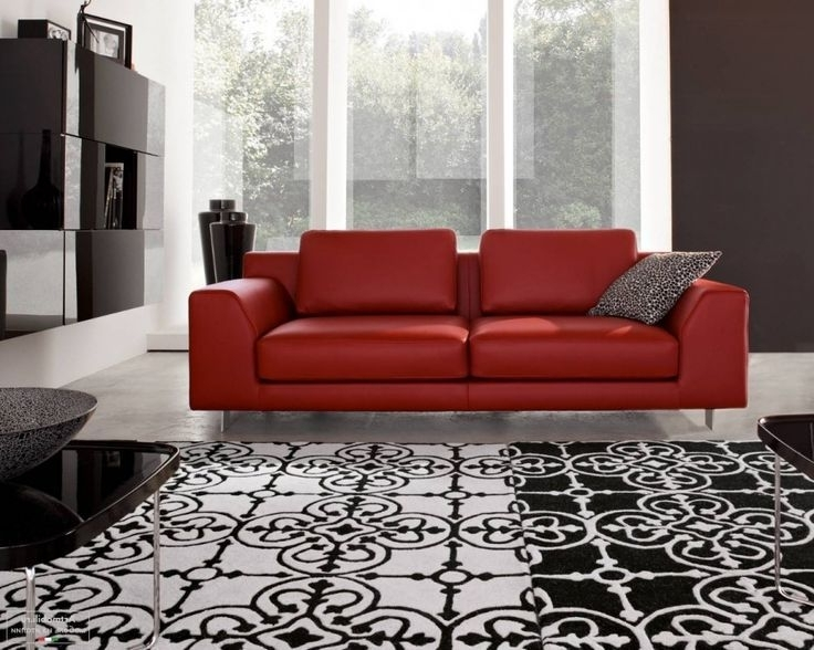 Featured Photo of Red Leather Couches For Living Room