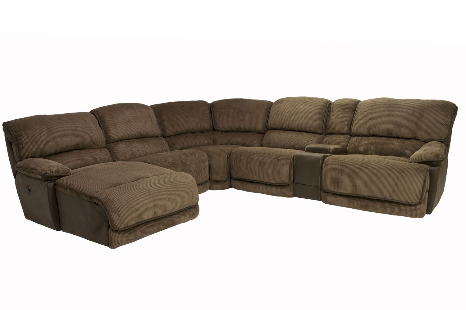Popular Right Facing Chaise Sectionals Throughout Austin Chocolate 6 Piece Right Facing Chaise Sectional (View 15 of 15)