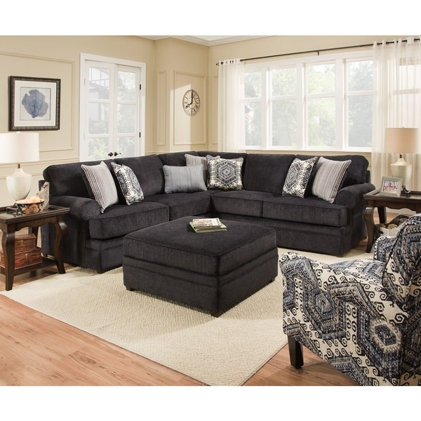 Popular Simmons Sectional Sofas In Simmons Upholstery Bellamy Slate Sectional – Free Shipping Today (View 4 of 10)