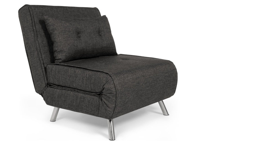 Popular Single Sofa Chairs Inside Haru Single Sofa Bed, Cygnet Grey (View 5 of 10)