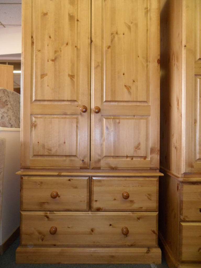 Popular Tbs Range (pine) : Tbs Discount Furniture, A Large Selection Of Inside Single Pine Wardrobes With Drawers (View 2 of 15)