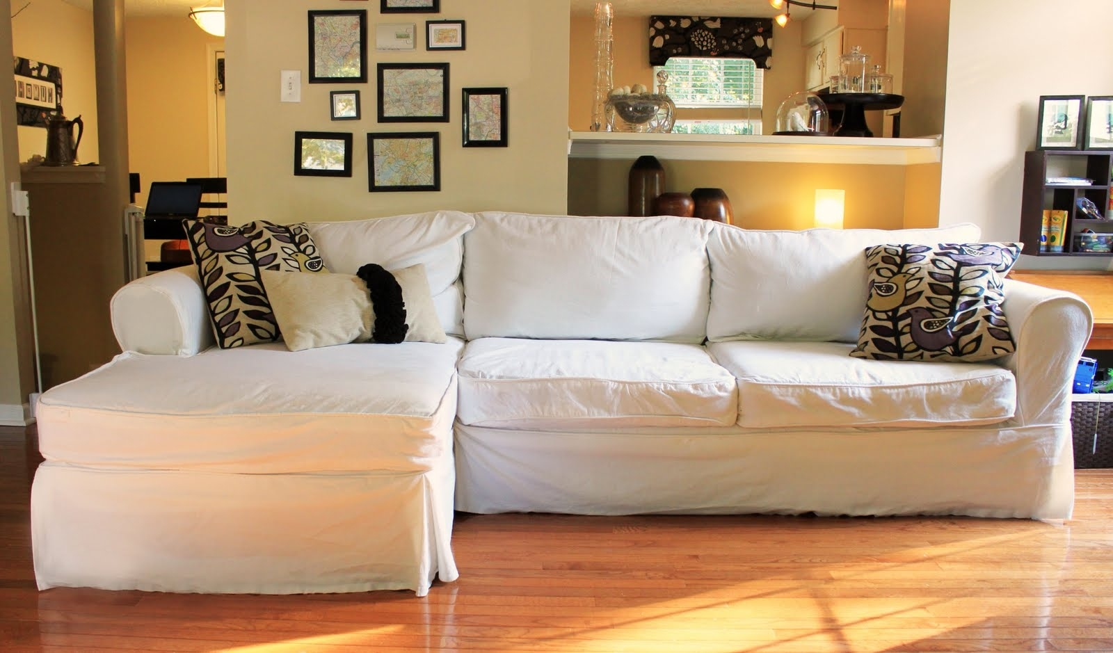 Popular The Creative Imperative: Nasty Sofa? Slipcover It! Intended For Slipcovered Sofas With Chaise (View 2 of 15)