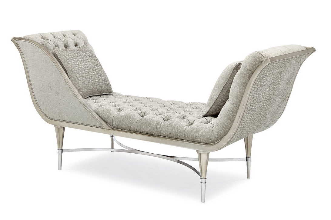 Popular Tufted Chaise Lounges With Regard To Caracole Classics Leaf Tufted Chaise Lounge & Reviews (View 15 of 15)