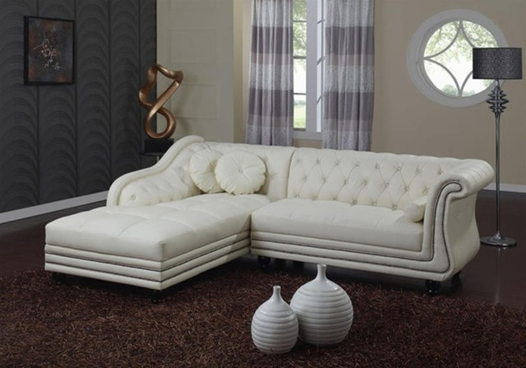 Popular Tufted Sectional Sofas Pertaining To Tufted Sectional Sofa With Recliners And Chaise — Fabrizio Design (View 5 of 10)