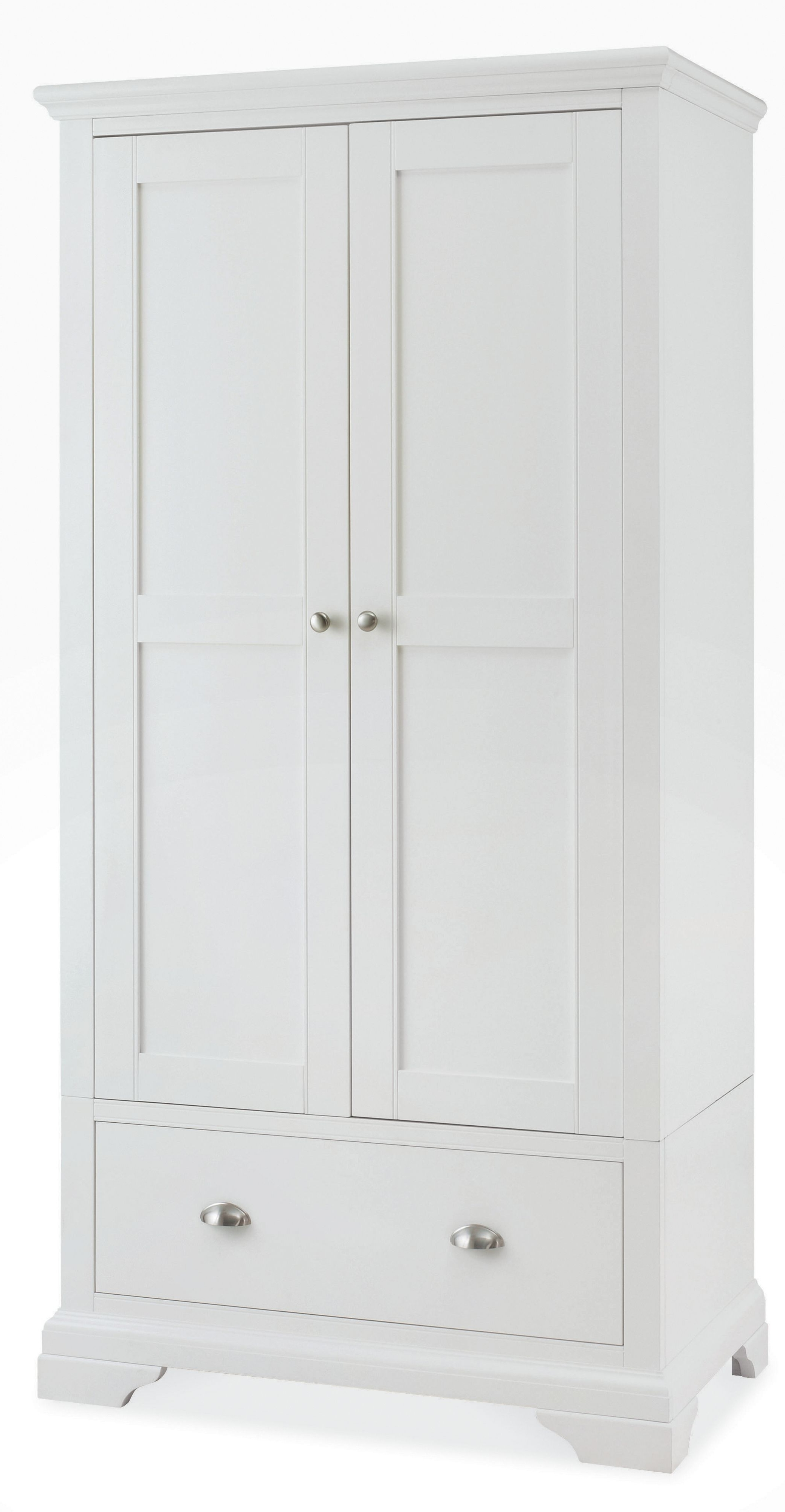 Popular Vintage White Wooden Wardrobe With Inside Shelves And Numerous Within White Wood Wardrobes (View 6 of 15)