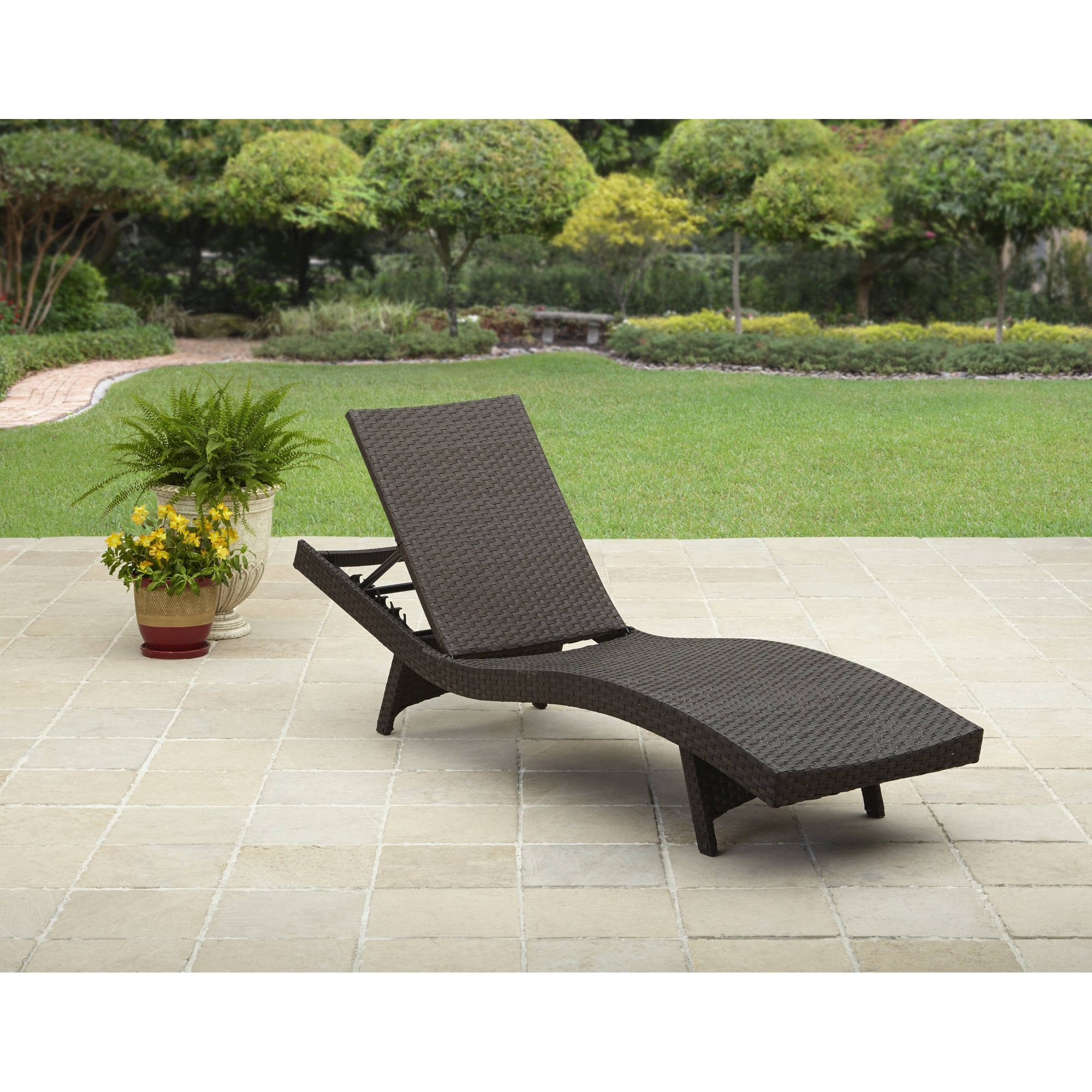 Popular Walmart Chaise Lounge Chairs Intended For Better Homes And Gardens Avila Beach Chaise – Walmart (View 10 of 15)