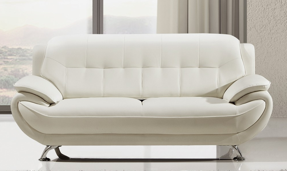 Popular White Leather Sofas With Decorating Soft Leather Sofa Set White Settee Loveseat White (View 3 of 10)