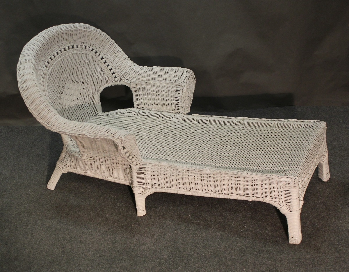 Popular Wicker Chaises Regarding Child Beaded White Wicker Chaise Lounge : Jaetees Wicker, Wicker (View 8 of 15)