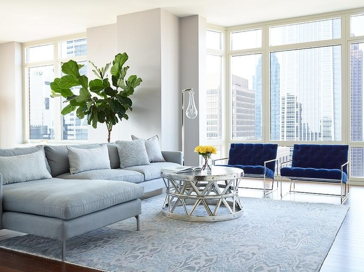 Preferred Accent Sofa Chairs With Gray Sofa With Chaise Lounge And Blue Velvet Accent Chairs (View 13 of 15)