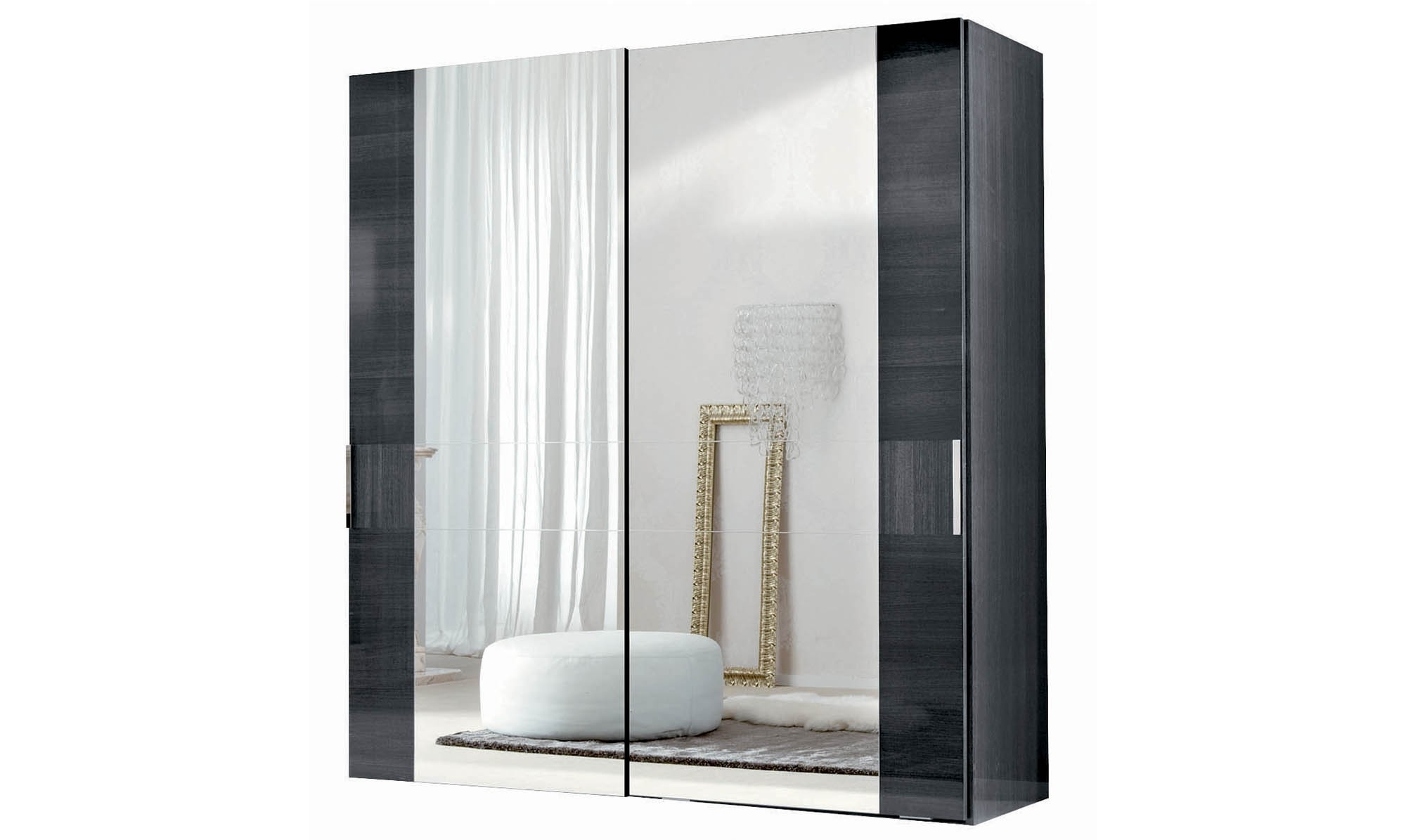 Preferred Antibes – 2 Sliding Mirror Door Wardrobe – All Bedroom Ranges Regarding 2 Sliding Door Wardrobes (View 11 of 15)