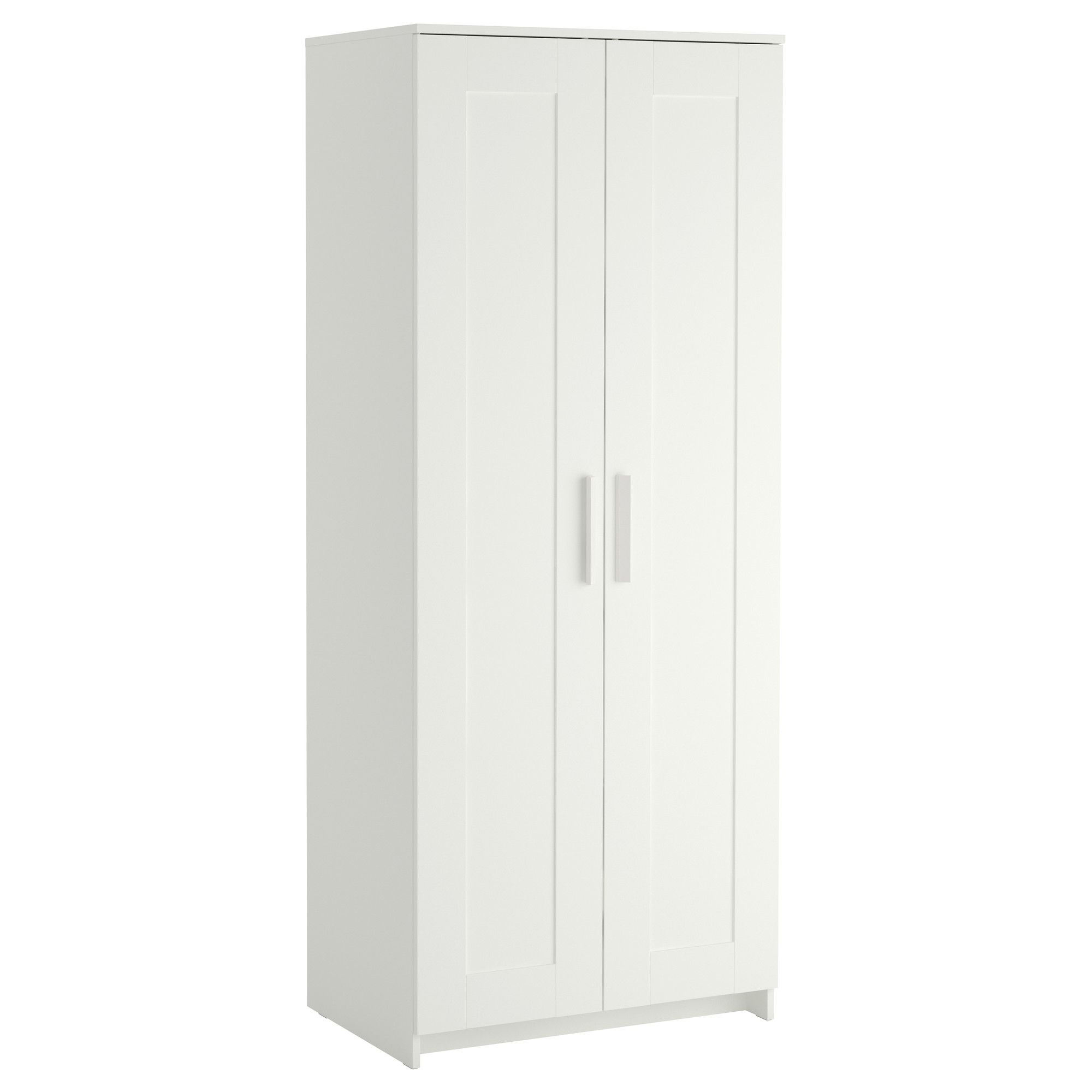 Preferred Brimnes Wardrobe With 2 Doors White 78x190 Cm – Ikea Regarding Short Wardrobes (View 7 of 15)