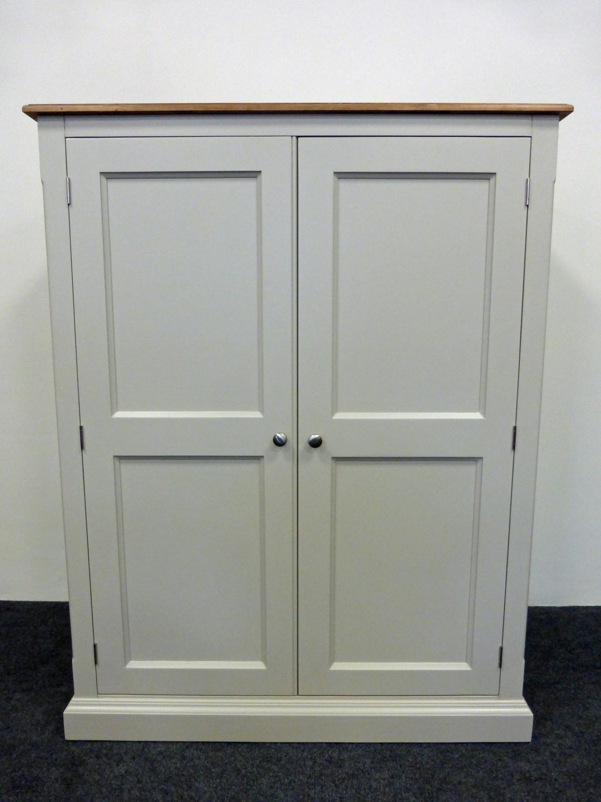 Preferred Double Pine Wardrobes Intended For Painted Low Eaves Double Wardrobe – Bespoke Bedroom Furniture (View 10 of 15)