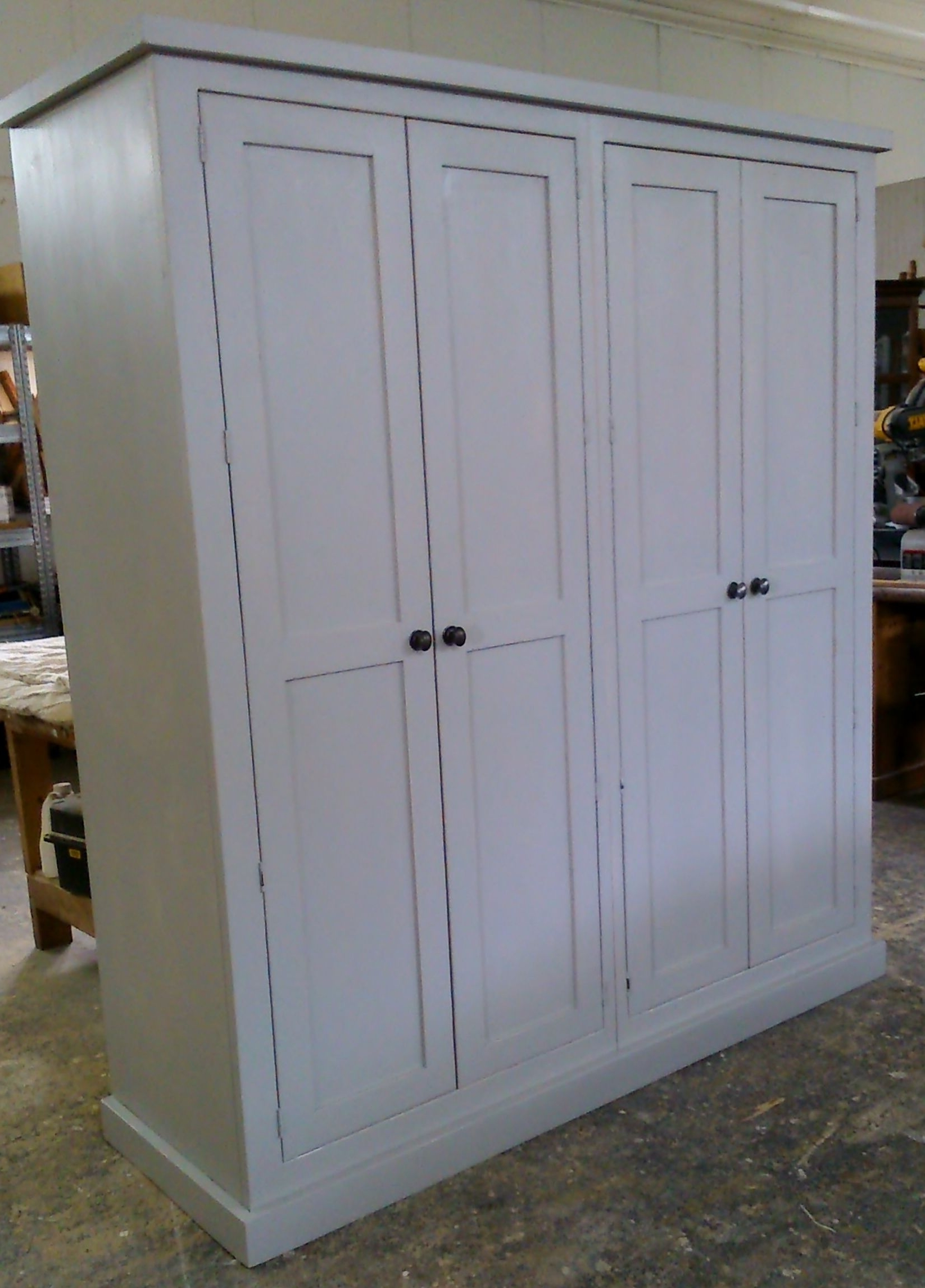 Preferred Farrow And Ball Painted Wardrobes With Bespoke Knockdown Solid Reclaimed Pine Wardrobe, Painted In Farrow (View 9 of 15)