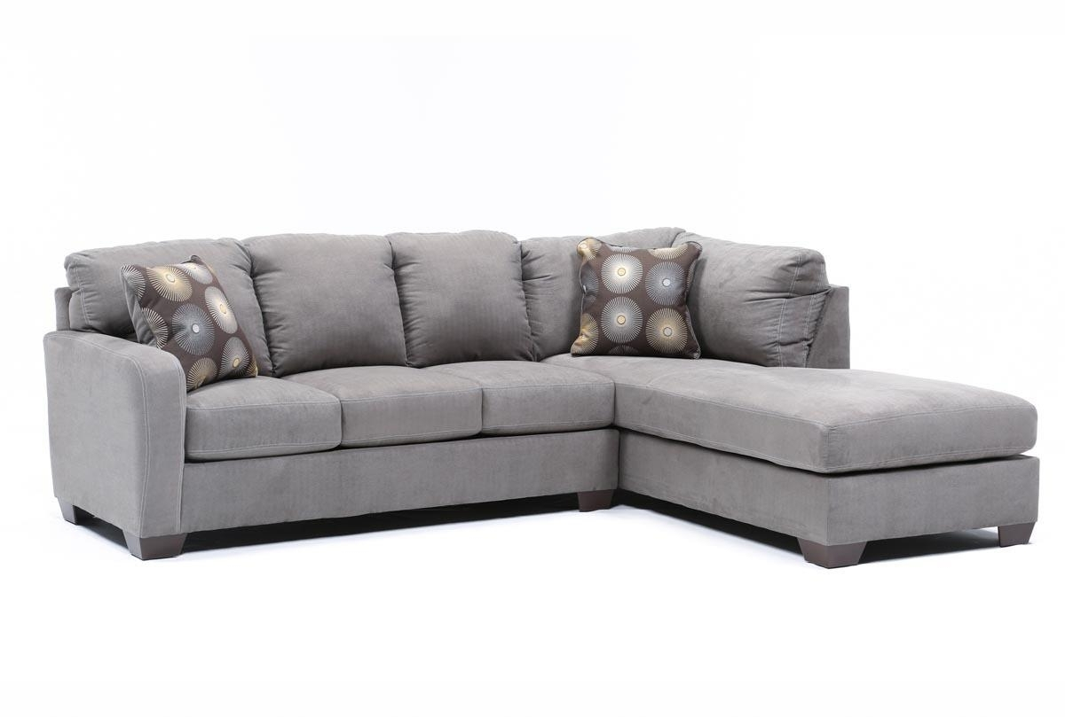 Preferred Gray Couches With Chaise With Regard To Zella Charcoal 2 Piece Sectional W/laf Chaise (View 5 of 15)