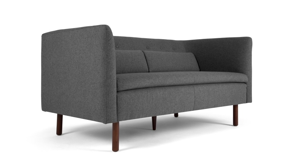 Preferred Henderson 2 Seater Sofa, Marl Grey (View 13 of 15)