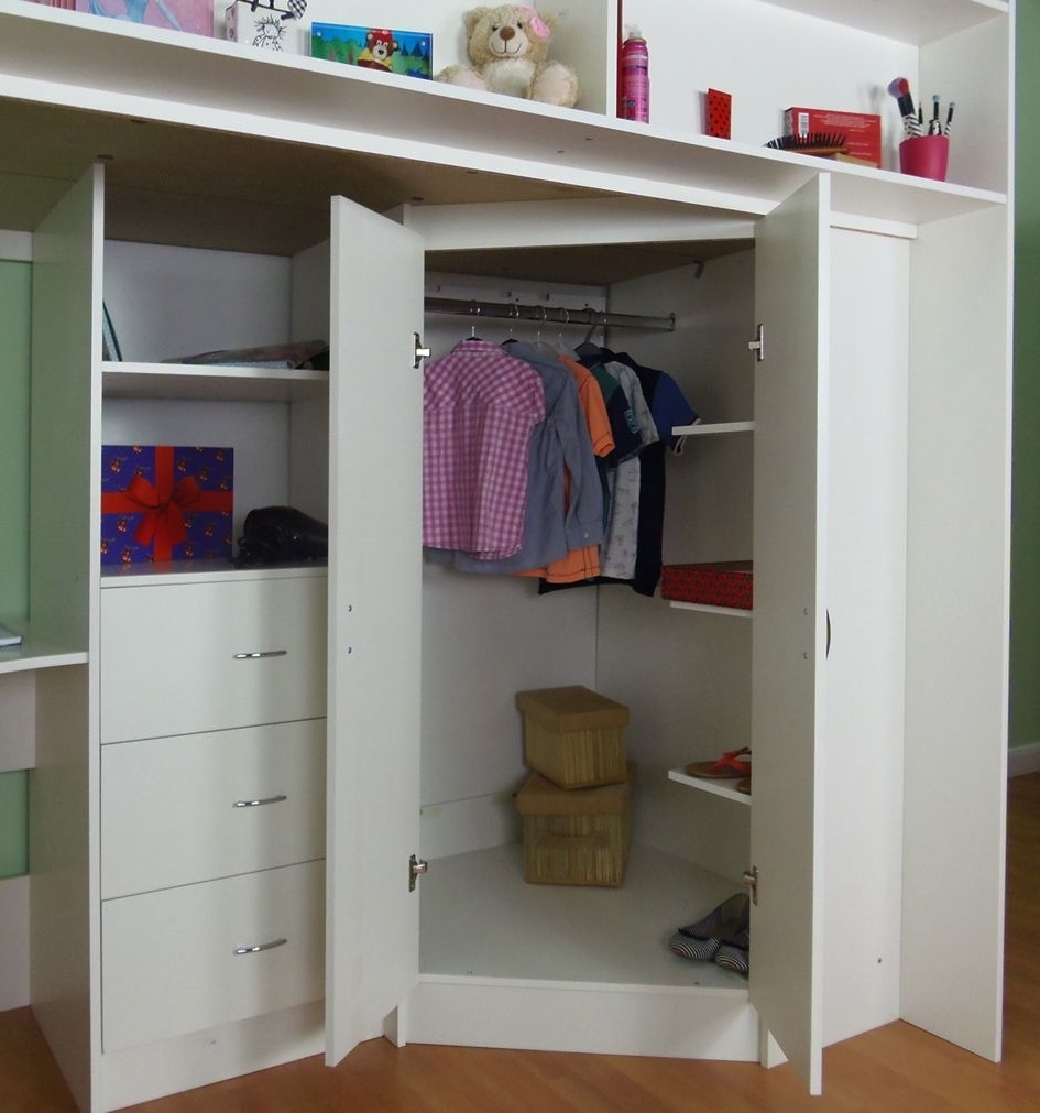 Featured Photo of High Sleeper Bed With Wardrobes