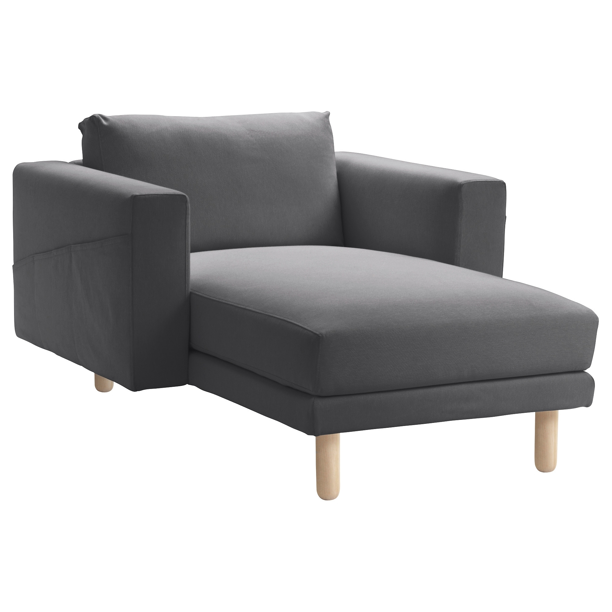 Preferred Ikea Chaise Longues Regarding Norsborg Chaise Longue Finnsta Dark Grey/birch – Ikea (View 13 of 15)