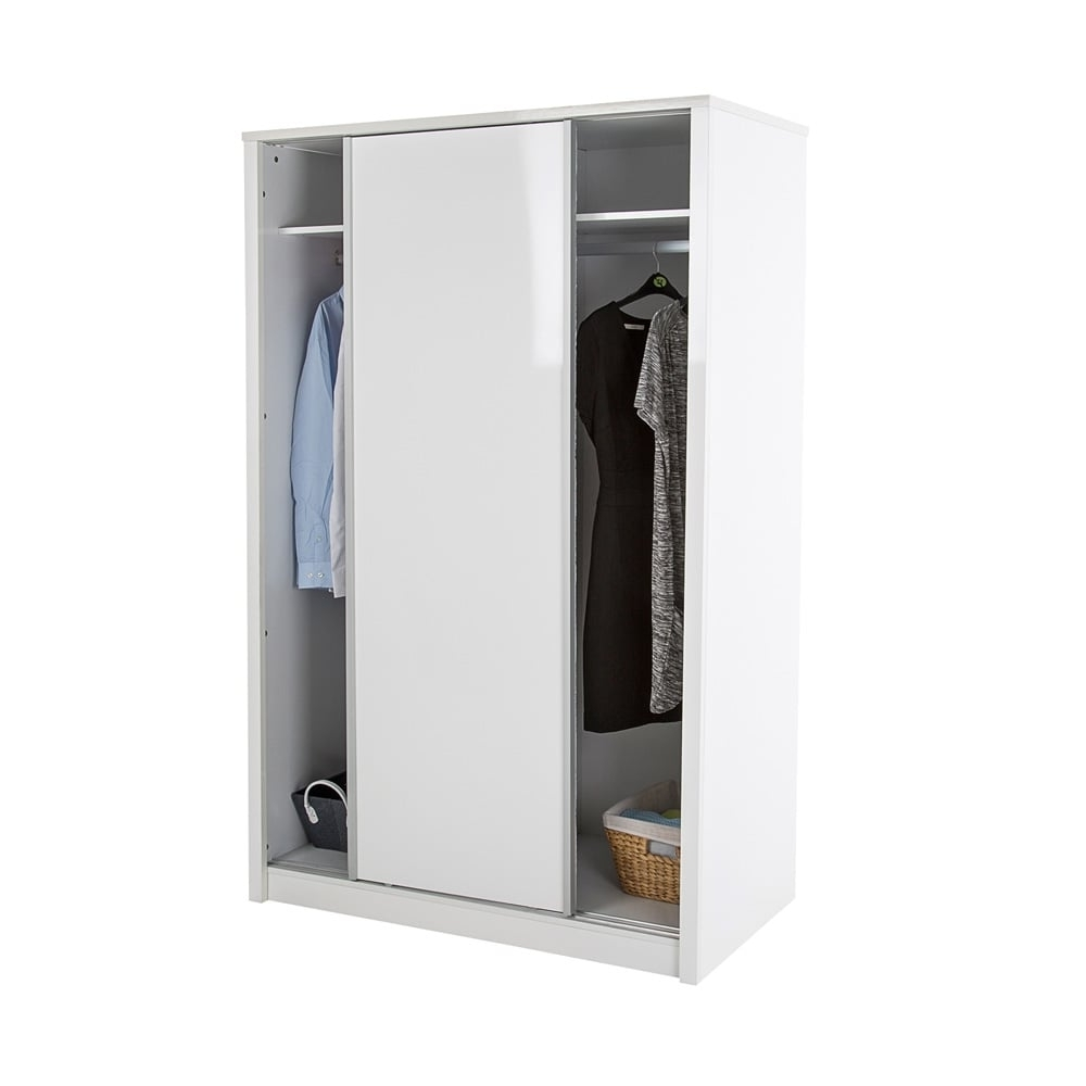 Preferred Lpd Furniture Novello High Gloss White 2 Door Sliding Wardrobe With Tall White Gloss Wardrobes (View 12 of 15)