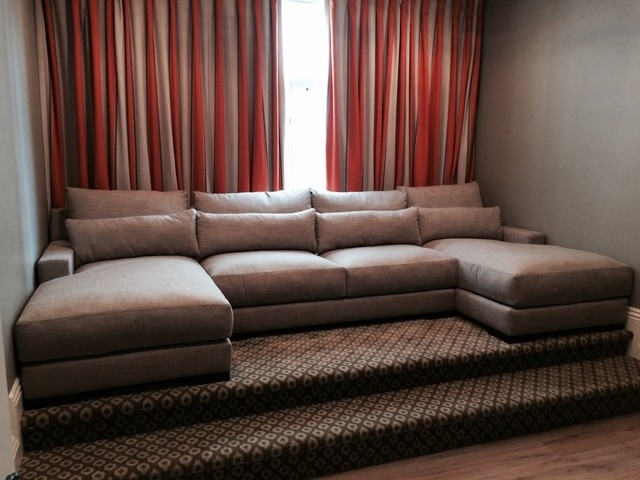 Preferred Media Room Custom Sectional Sofa – Transitional – Home Theatre With Media Room Sectional Sofas (View 5 of 10)