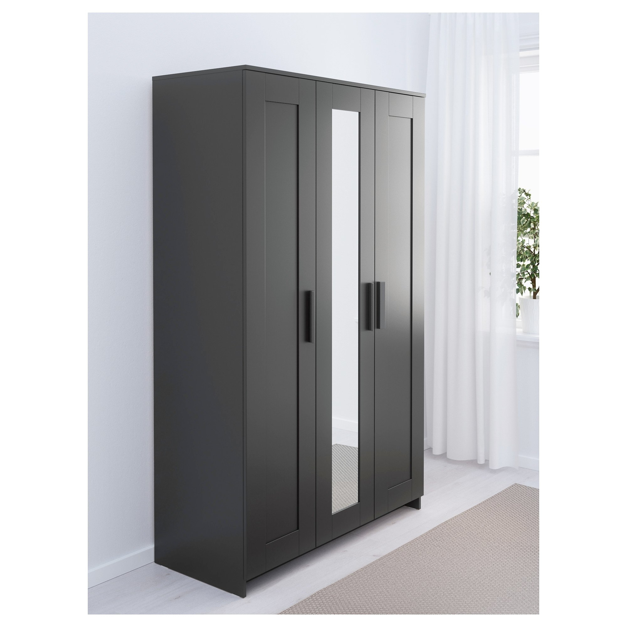 Preferred Nightstand : Dazzling Awesome Black Wardrobes Brimnes Wardrobe Within Black Wardrobes (View 14 of 15)