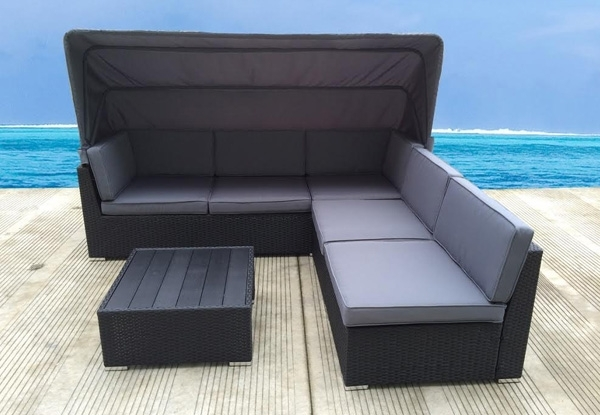 Preferred Outdoor Furniture With Canopy • Grabone Nz With Regard To Outdoor Sofas With Canopy (View 7 of 10)