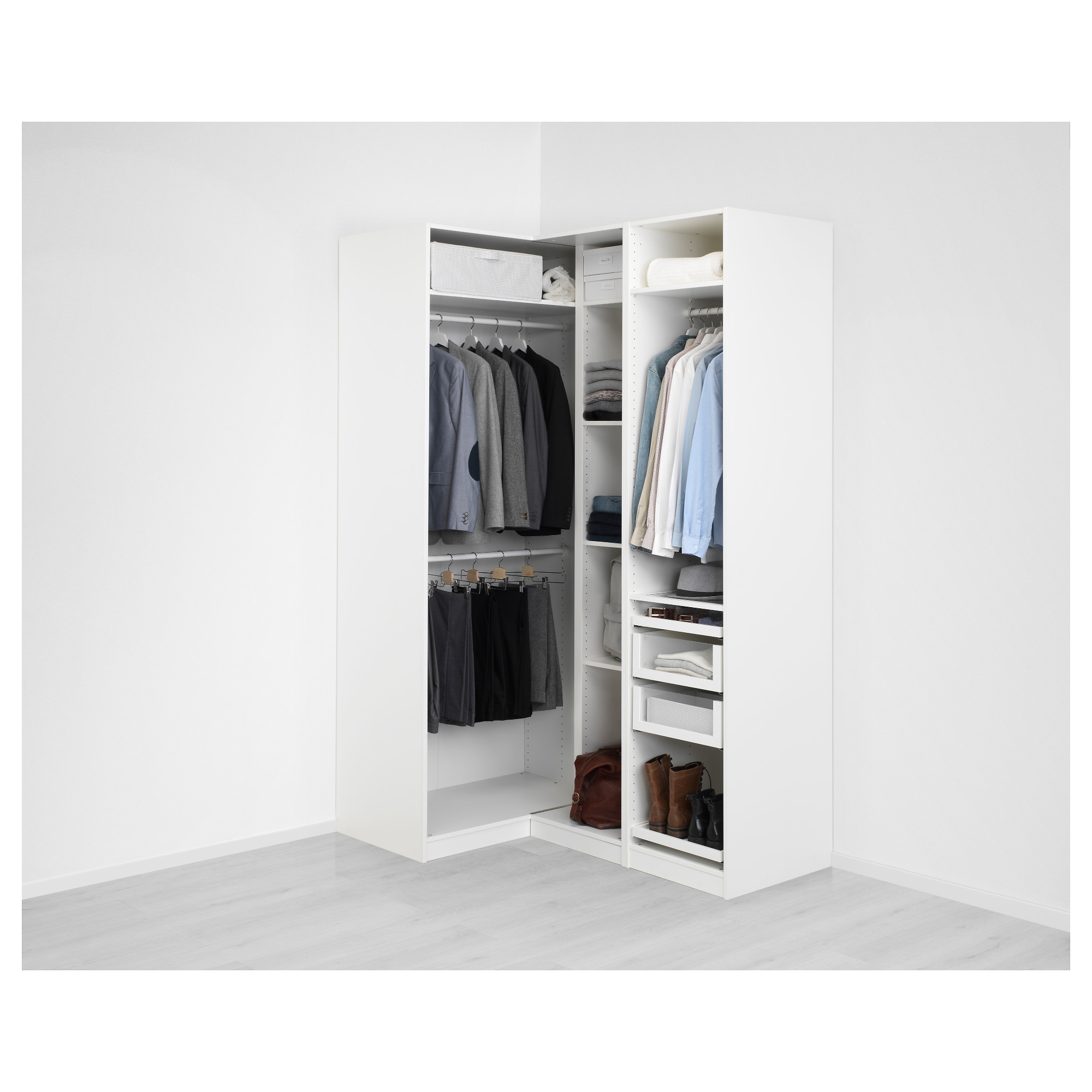 "Preferred Pax Corner Wardrobe – 63 1/8/43 1/2X79 1/4 "" – Ikea In White Gloss Corner Wardrobes (View 8 of 15)"