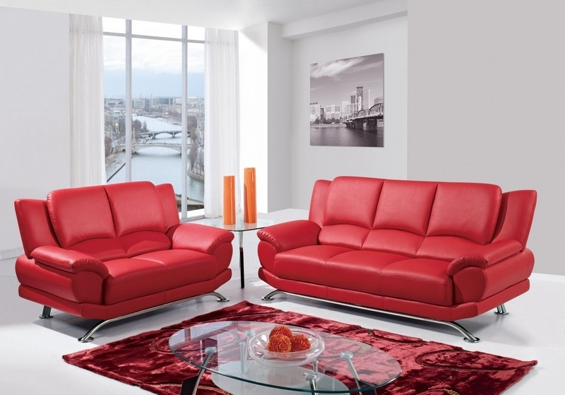 Preferred Red Leather Couches For Living Room Pertaining To Cheap Living Room Furniture Sets With Red Carpet And Red Sofa Also (View 6 of 10)