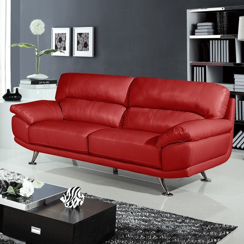 Preferred Red Leather Sofas With Regard To Cool Red Leather Sofas – Interiorvues (View 7 of 10)