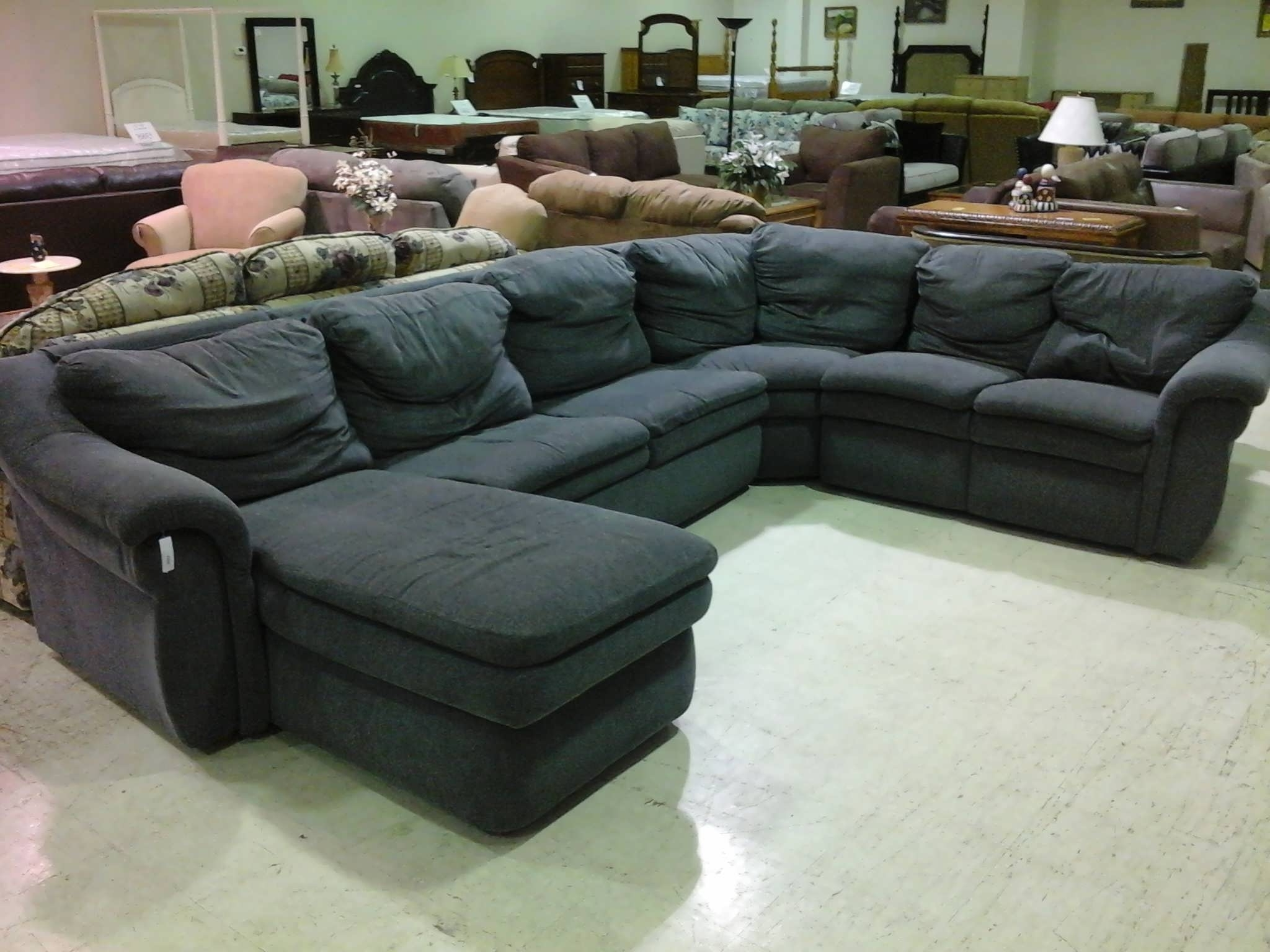 Preferred Sectional Couches With Chaise In Sofa : Chaise Sofa Leather L Shaped Couch Black Sectional Couch (View 9 of 15)