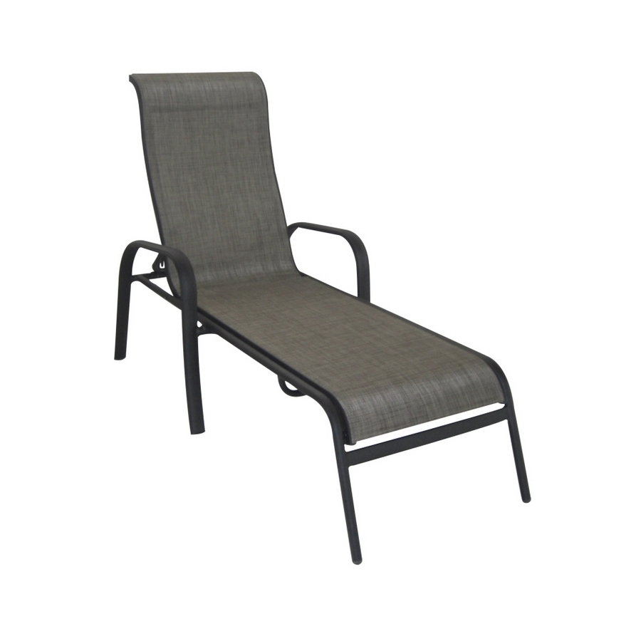 Preferred Shop Garden Treasures Burkston Sling Chaise Lounge Patio Chair At Pertaining To Chaise Lounge Sling Chairs (View 15 of 15)
