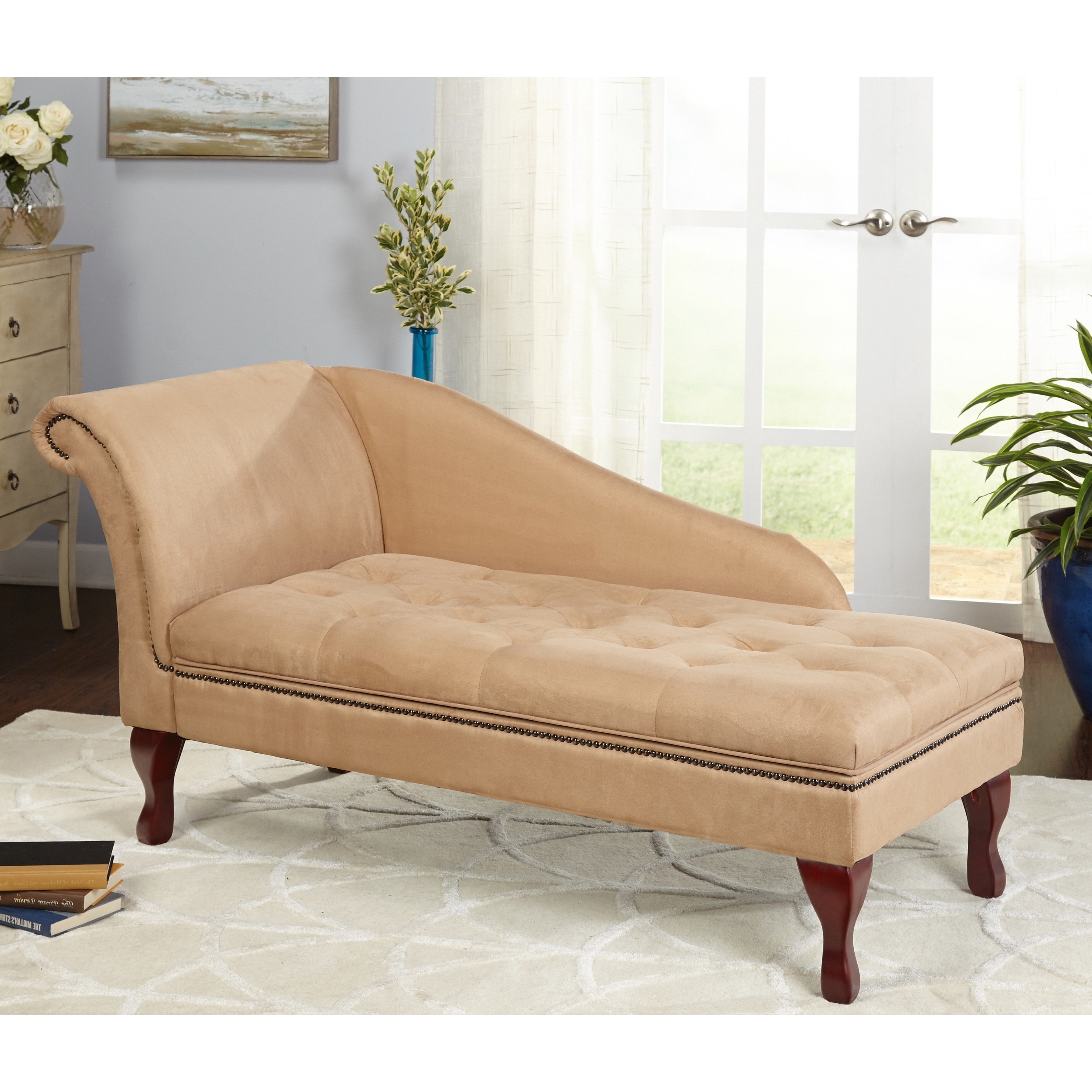 Preferred Simple Living Tan Chaise Lounge With Storage – N/a – Free Shipping Throughout Chaise Lounges With Storage (View 2 of 15)