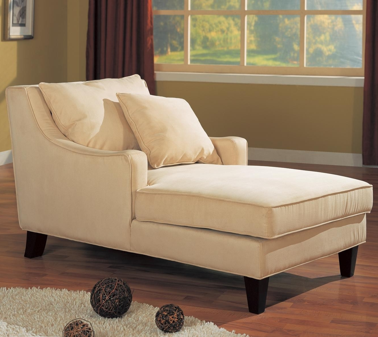 Preferred Sleeper Chaise Lounges Throughout Living Room : Small Chaise Lounge Chair For Small Room Double (View 7 of 15)