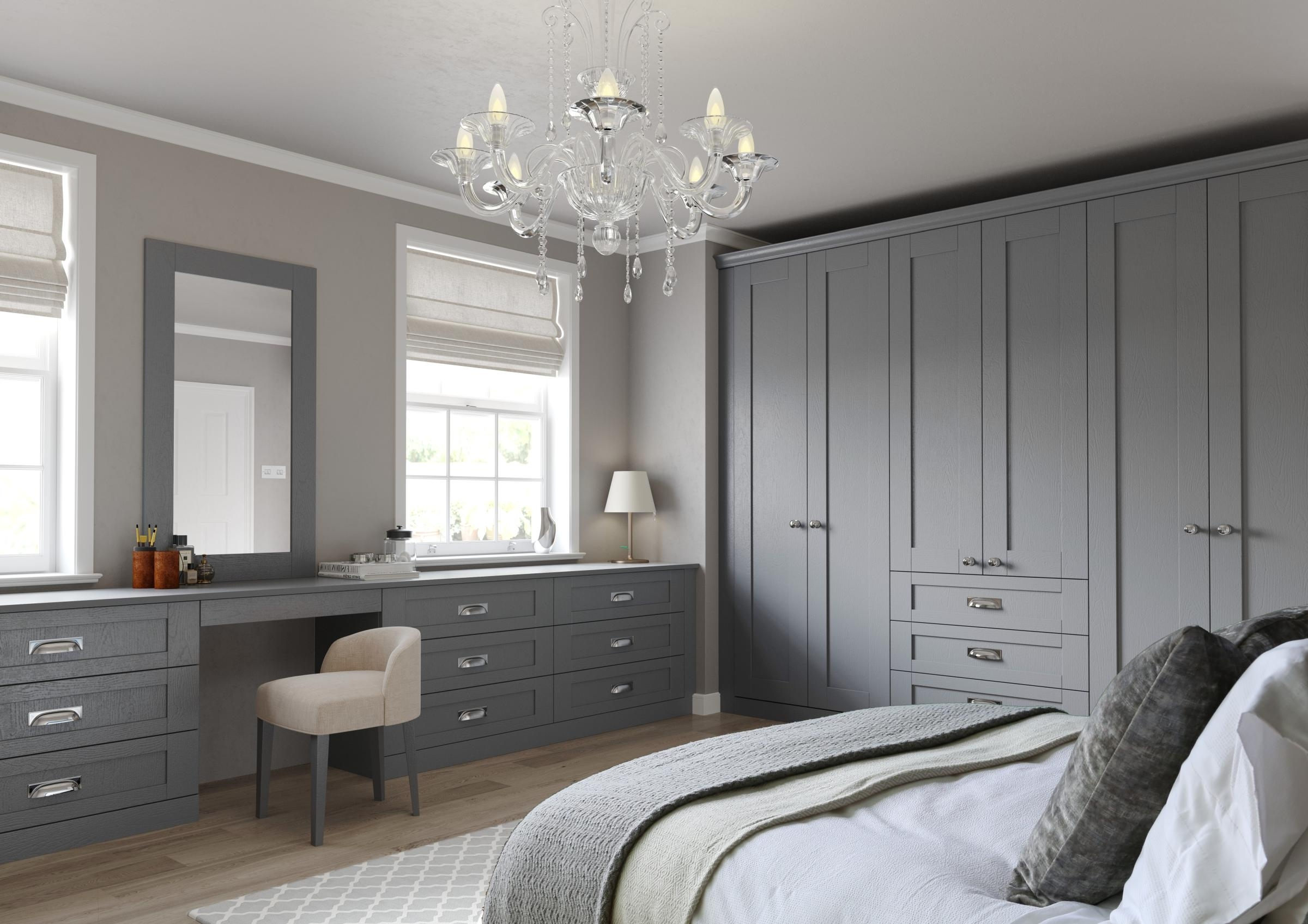 Preferred Traditional (Hinged) Wardrobe In Dust Grey – Fumro – Sliding With Grey Wardrobes (View 14 of 15)