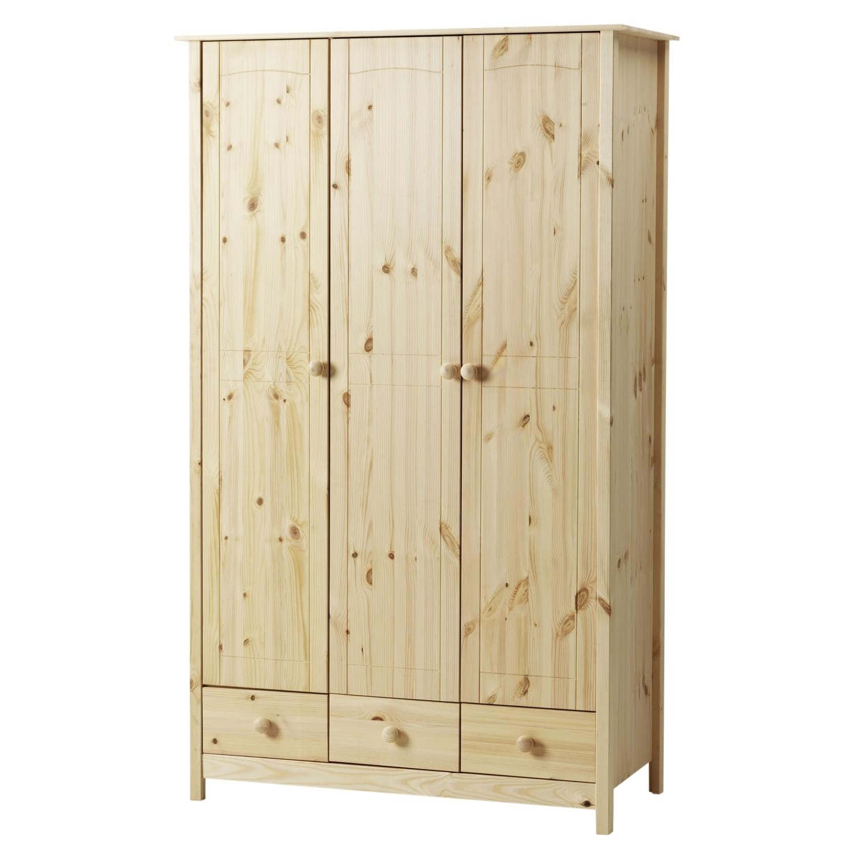 Preferred Viking 3 Door 3 Drawer Wardrobe Unfinished Pine – Simply Furniture For 3 Door Pine Wardrobes (View 10 of 15)