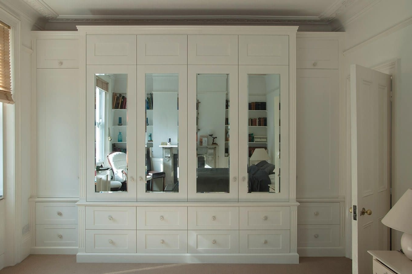 Preferred White Wardrobes With Drawers And Mirror Within Great Mirabel 5 Door + 6 Drawer + 3 Mirror Wardrobe (View 4 of 15)