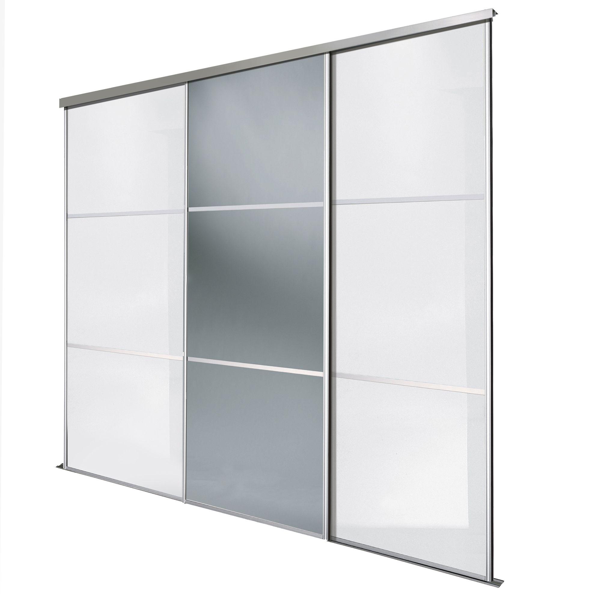 Premium Select White & Smoked Grey Mirror Sliding Wardrobe Door Pertaining To Latest White Gloss Sliding Wardrobes (View 12 of 15)