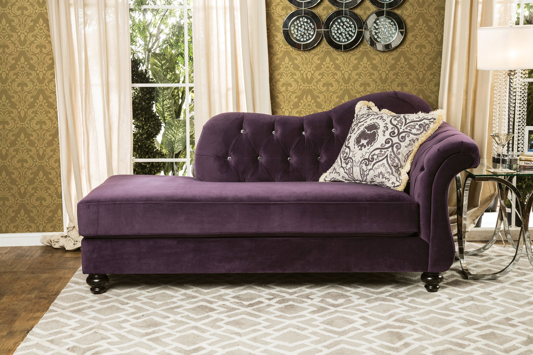 Purple Chaises Inside 2017 Antoinette Purple Chair Sm2222 Ce Furniture Of America Chaises (View 8 of 15)