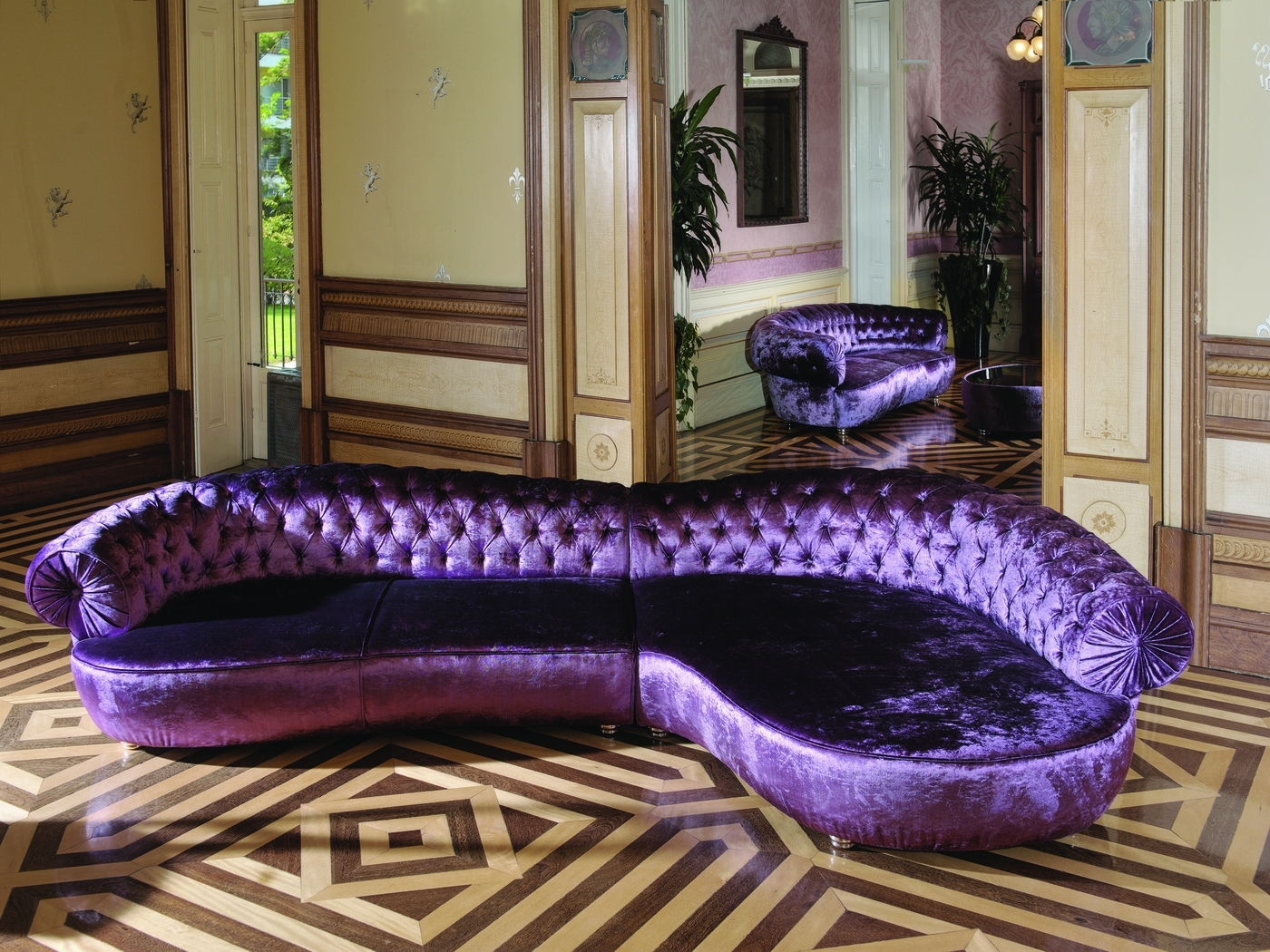 Purple Chaises Throughout Well Liked Elly Chaise Longue Rich Purple Large Sofa. Just Beautiful (View 11 of 15)