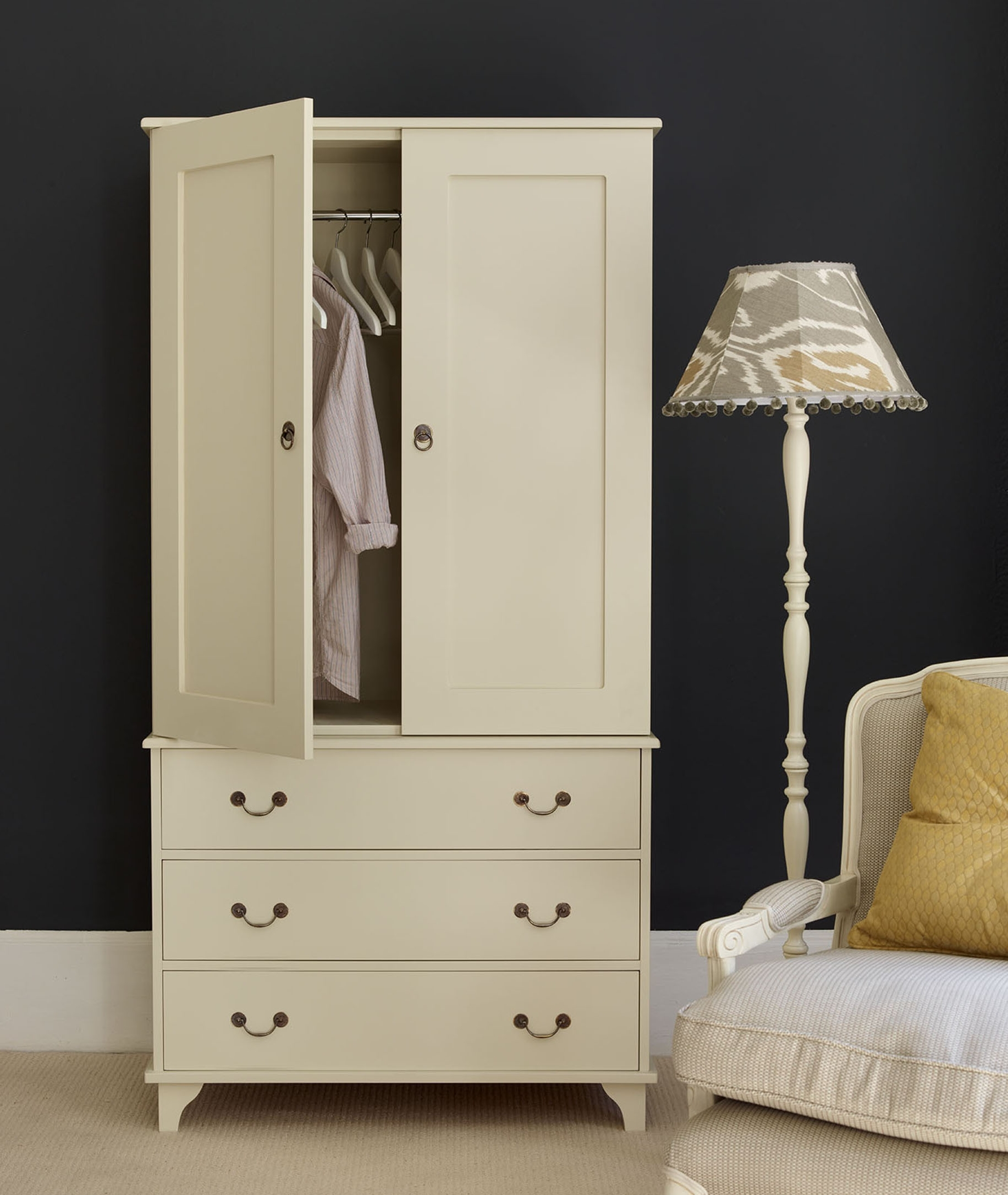 Random Furniture Ideas In White Double Wardrobes With Drawers (View 9 of 15)