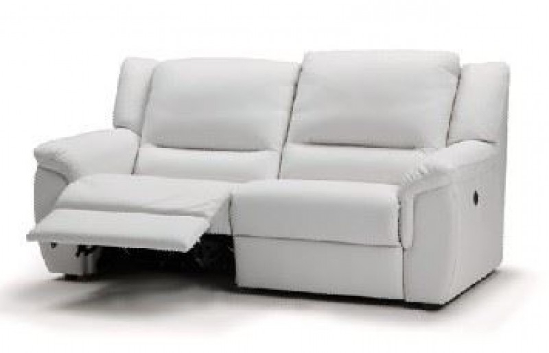 Recent 2 Seat Sectional Sofas Intended For Wonderful 2 Seat Leather Reclining Sofa Thesofa Regarding White (View 14 of 15)