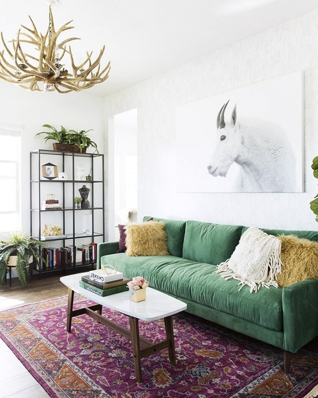 Recent 30+ Lush Green Velvet Sofas In Cozy Living Rooms Intended For Green Sofa Chairs (View 6 of 10)