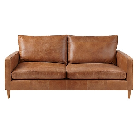 Recent Aniline Leather Sofas Regarding Buy John Lewis Bailey Medium Leather Sofa, Lustre Cappuccino (View 9 of 15)