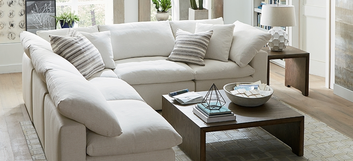Recent Armless Sectional Sofas In Fabric Sectionals In Armless Sectional Sofa Decorating (View 10 of 10)