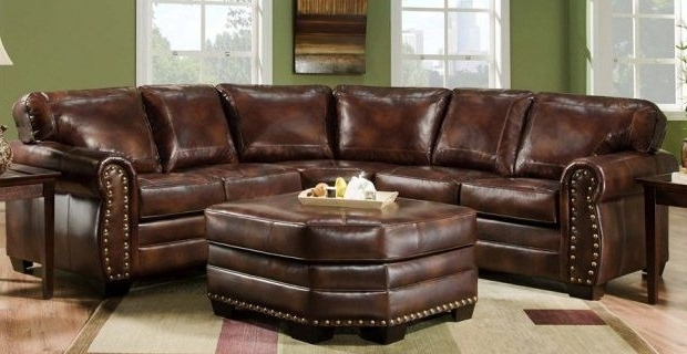 Recent Awesome Leather Sectional With Chaise And Ottoman Ideas Intended For Leather Sectionals With Ottoman (View 10 of 10)